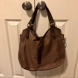 Lucky Brand boho soft leather shoulder bag